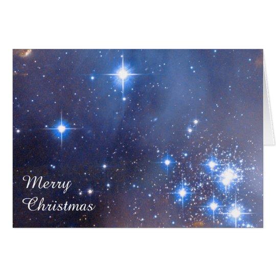 Merry Christmas Stars Card