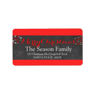 Merry Christmas stars holiday label