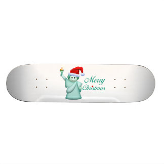 Merry Christmas Statue Of Liberty Skate Board Deck
