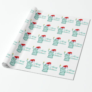 Merry Christmas Statue Of Liberty Wrapping Paper