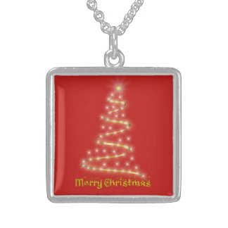 Merry Christmas Sterling Silver Necklace