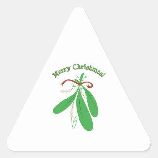Merry Christmas! Triangle Sticker