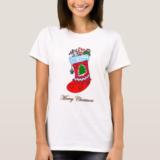 Merry Christmas Stocking T-Shirt