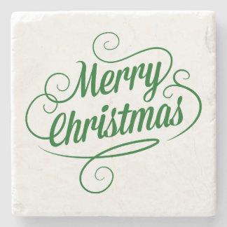Merry Christmas Stone Coaster