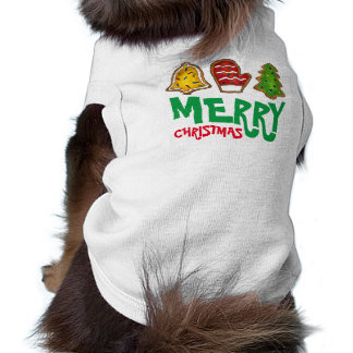 Merry Christmas Sugar Cookies Holiday Dog Tee