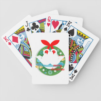 merry christmas swans bicycle playing cards
