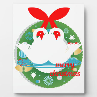merry christmas swans plaque