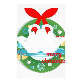 merry christmas swans stationery