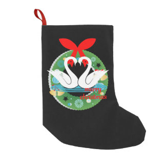 merry christmas swans stocking