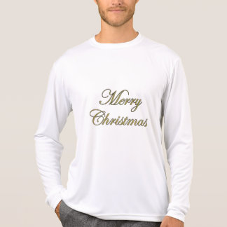 Merry Christmas T-Shirts Gold Glittery Text