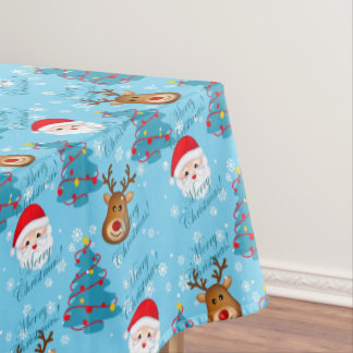 "Merry Christmas Tablecloth, 52""x70"" Tablecloth"