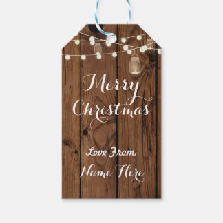 Merry Christmas Tags Merry Xmas Tag Wood Lights