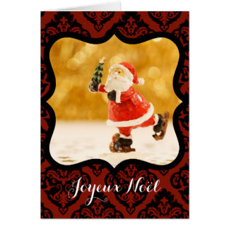 Merry Christmas Tallies decorative Photo Greetings Card