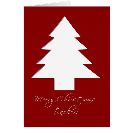 Merry Christmas, Teacher Card