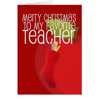 Merry Christmas Teacher Greeting Card