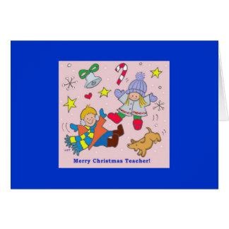 Merry Christmas Teacher Note Card