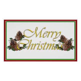 Merry Christmas Text Design Poster