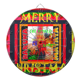 Merry Christmas The world around me is happy to ha Dartboard