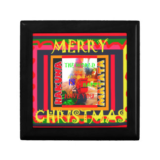 Merry Christmas The world around me is happy to ha Gift Box