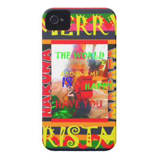Merry Christmas The world around me is happy to ha iPhone 4 Cover