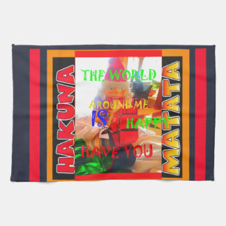 Merry Christmas The world around me is happy to ha Kitchen Towel