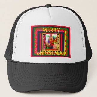 Merry Christmas The world around me is happy to ha Trucker Hat