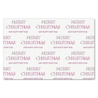 Merry Christmas Tissue Paper in Pinks & White