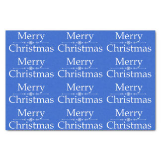 Merry Christmas Tissue Paper in Royal Blue & White