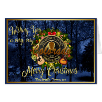 Merry Christmas to a Colorado Country Music Fan Card