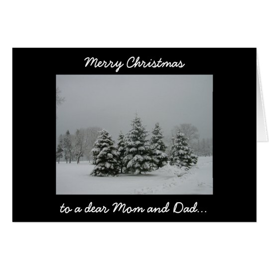 Merry Christmas to a dear Mom and Dad. Card
