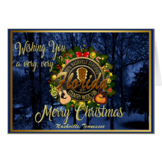Merry Christmas to a Florida Country Music Fan Card