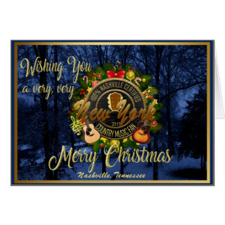 Merry Christmas to a New York Country Music Fan Card