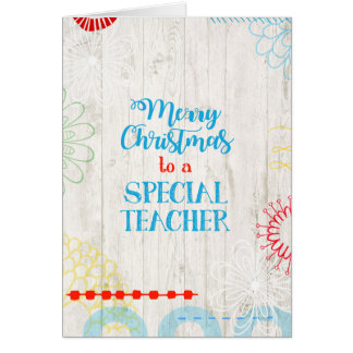 Merry Christmas to a Special Teacher Card