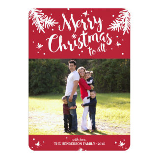Merry Christmas To All Holiday Photo Card
