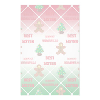 Merry Christmas to best sister Stationery