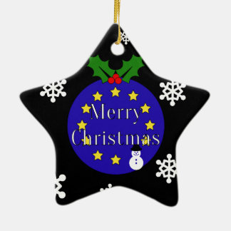 """Merry Christmas..To EU!"" Dble-Sided Brexit Ceramic Ornament"