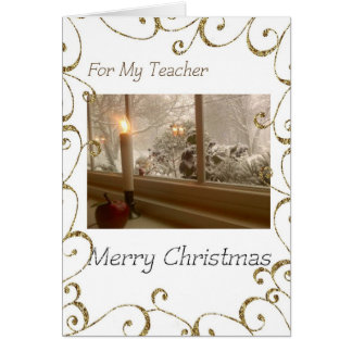 Merry Christmas to My Teacher Greeting Card