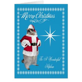 Merry Christmas To Nephew Greeting Card