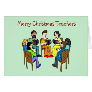 Merry Christmas to teacher school teacher xmas Greeting Card