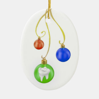 Merry Christmas Tooth Ornament For Dentist