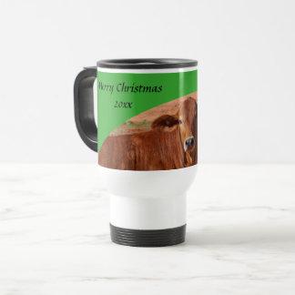 Merry Christmas travel mug - green