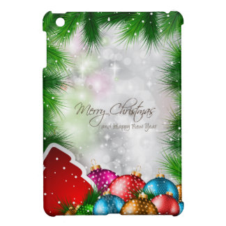 Merry Christmas Tree Greating Card iPad Mini Case