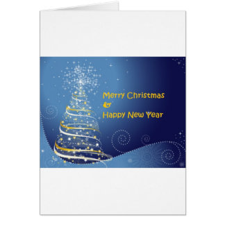 merry christmas tree happy new year greeting card