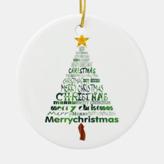 Merry Christmas Tree Holiday Ornament