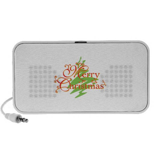 Merry Christmas Tree Star Greeting Playing Cards Speakers