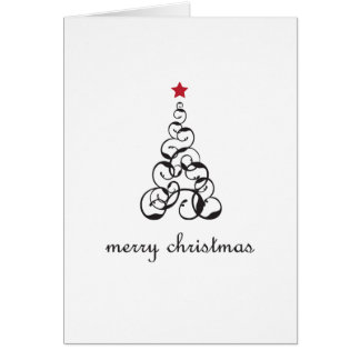 Merry Christmas Tree Swirl Card