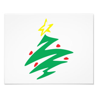 Merry Christmas Tree with Star Greeting Cards Mugs Photograph