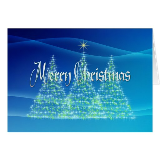 MERRY CHRISTMAS TREES by SHARON SHARPE Card