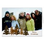 Merry Christmas Trees & Horse Card