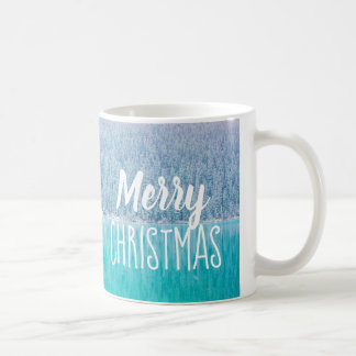 Merry Christmas Trees Lake Louise Canada Coffee Mug